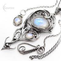 ENQUALDIAR - Silver and Moonstone by LUNARIEEN
