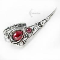CHERRIVIEL Silver and Garnet (ring) by LUNARIEEN
