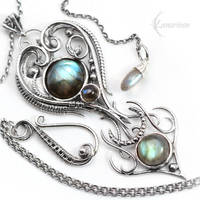 NATYARIL - Silver and Labradorite by LUNARIEEN