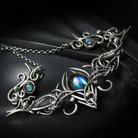 TRIEELTHAL Silver and Labradorite by LUNARIEEN