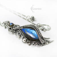 ESSEH REVILTH Silver and Labradorite by LUNARIEEN
