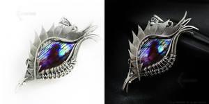 GARRAZATH Dragon's Eye Silver and Labradorite by LUNARIEEN
