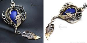 FHERIA NATTRIS - Brass, Silver and Lapis Lazuli by LUNARIEEN
