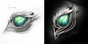 ADARRMAHX Dragon's Eye- Silver and Labradorite by LUNARIEEN