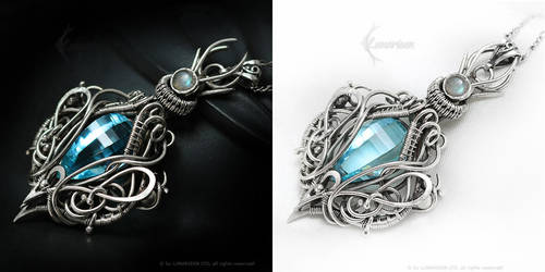 ARDAMERIEELH Silver, blue Quartz and Labradorite by LUNARIEEN