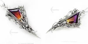 ADARRIAMELTH Silver,Ametrine,Garnet,Quartz by LUNARIEEN