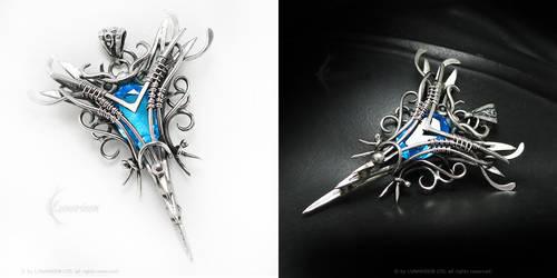 ARDALIEENTH Silver and Blue Quartz by LUNARIEEN
