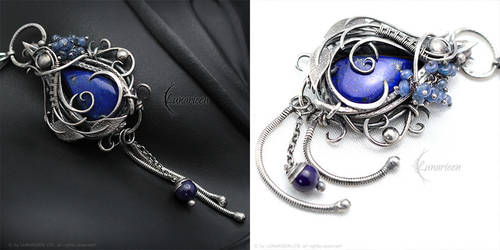 ZINNERLIA Silver, Lapis Lazuli, Sapphire and Agate by LUNARIEEN