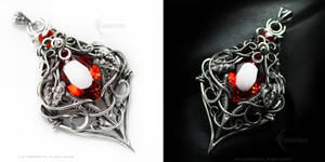 TARRAMANHD Silver and Red Zirconia by LUNARIEEN