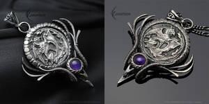 NHYZZERL - Silver and Amethyst by LUNARIEEN