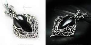 IRRADMANARD Silver and Black Onyx by LUNARIEEN