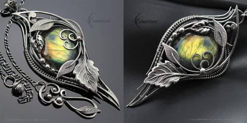 NEZRIA NYRILL - Silver and Labradorite by LUNARIEEN
