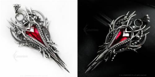 ARDARIEEMELTH  Silver and Red Quartz by LUNARIEEN