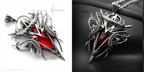 NARGNALL - Silver and Red Quartz by LUNARIEEN