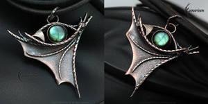 FYTHARRN DRACO - Dragon's Eye pendant by LUNARIEEN