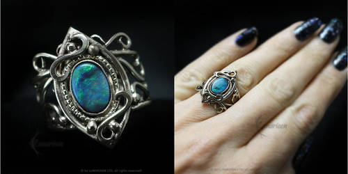 YRNARTULTH White Gold and Opal by LUNARIEEN