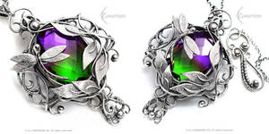 GHANRIEEL - Silver and Ametrine by LUNARIEEN