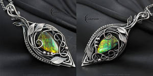 FYTHERGNEL  - Silver and Ammolite by LUNARIEEN
