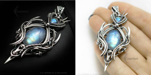 ERANTIEELTH Silver and Moonstone by LUNARIEEN