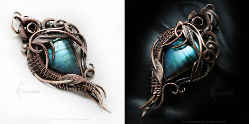 ILIERIEENTH Copper and Labradorite by LUNARIEEN