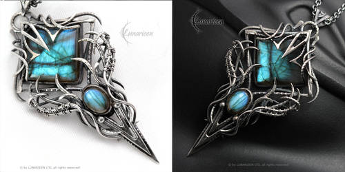 YNGHNAR - Silver and Labradorite by LUNARIEEN