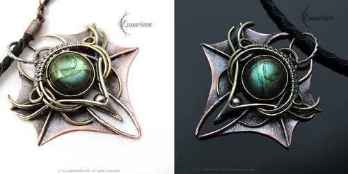 THAZNHYRN DRACO - Exclusive gothic style Pendant. by LUNARIEEN