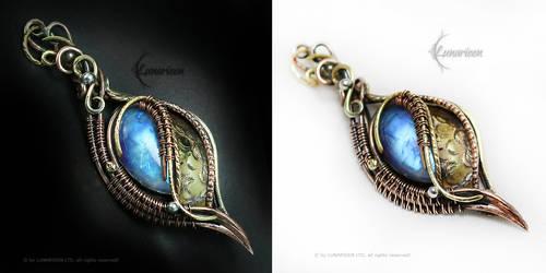 LUNNARTHEN Brass,Silver,Copper,Moonstone by LUNARIEEN