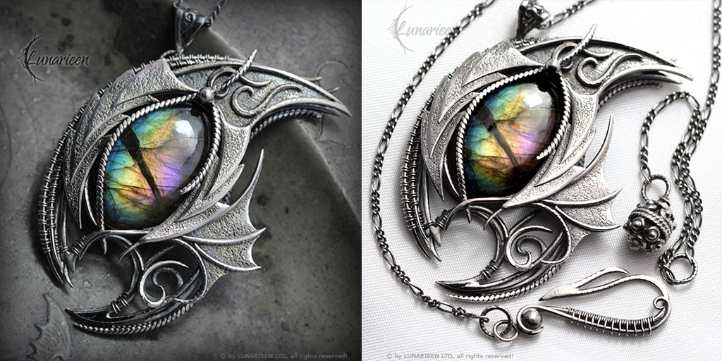 SAGHNDAYERL DRACO - Silver and Labradorite by LUNARIEEN