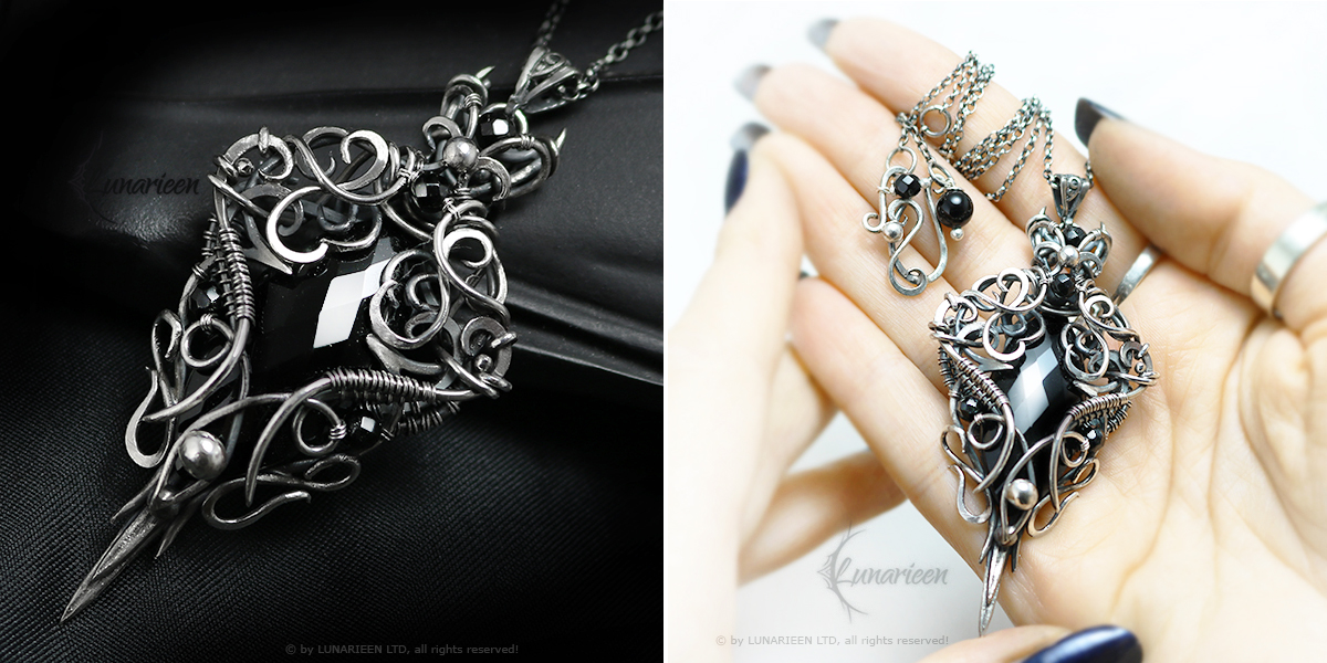 SHAETHERVILH Silver and Black Onyx by LUNARIEEN
