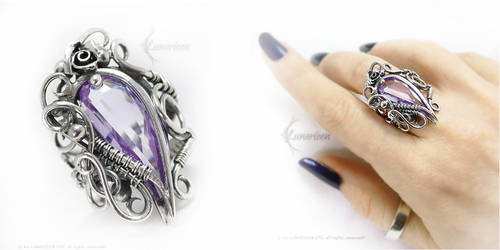RINNALETH  Silver and Lilac Zirconia by LUNARIEEN