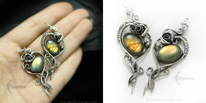 ROSELITH Silver and Labradorite by LUNARIEEN
