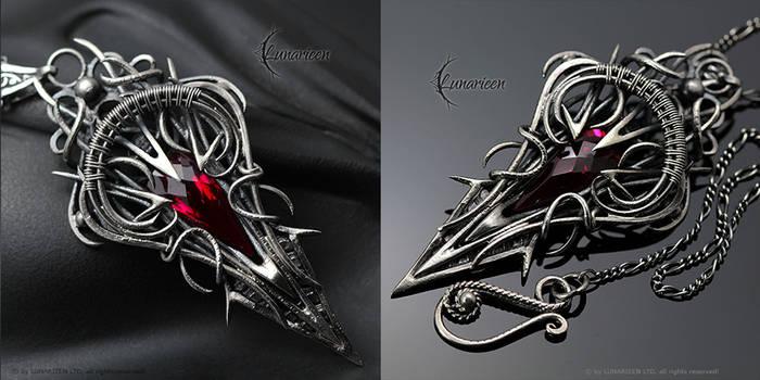 XYNGHNAAR - Silver and Red Quartz by LUNARIEEN