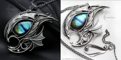 NEGHADRNYL DRACO - Silver and Labradorite by LUNARIEEN