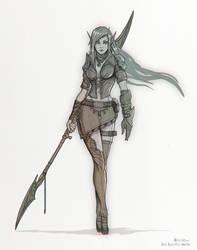 Sketch Fantasy Elf by JoeLesaffre