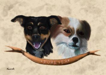 Estrella y Tobi by Bluuberwolf