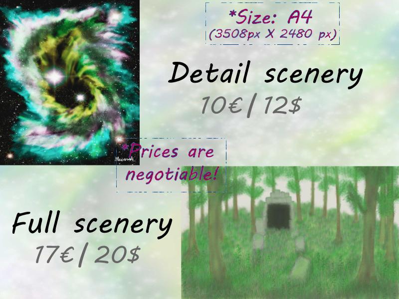 Standard Digital drawings scenaries by Bluuberwolf