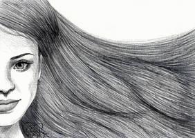 Ballpoint Hair by Cindy-R
