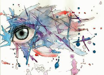 Blue eye by Cindy-R
