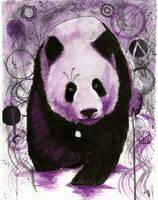 Purple Panda by Cindy-R