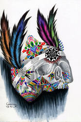 Coloful Skull by Cindy-R