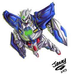 Gundam Exia by Run-Devil-Ru-n
