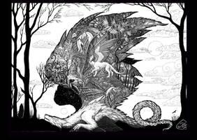 To kill a dragon - print by hontor