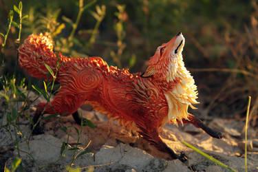 Autumn fox by hontor