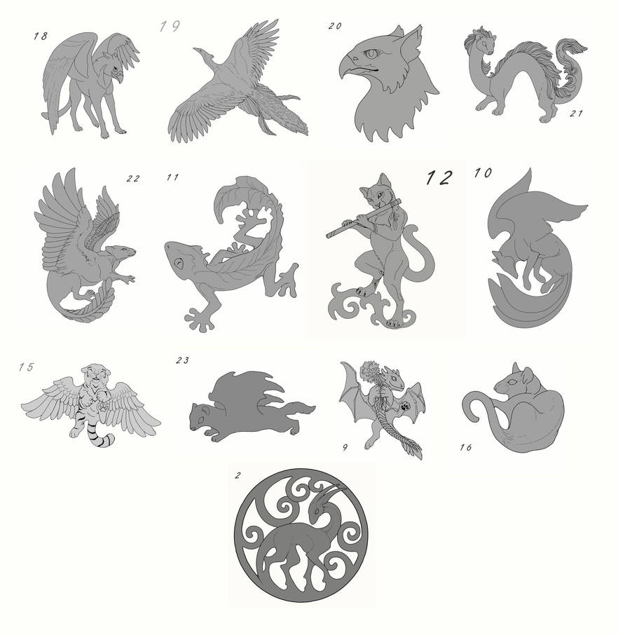 Sketches for plywood accessories - finished by hontor