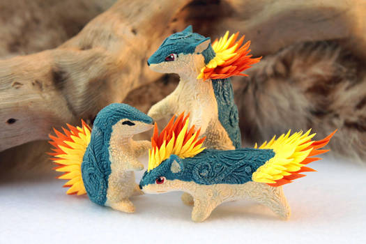 Cyndaquil Quilava Typhlosion by hontor