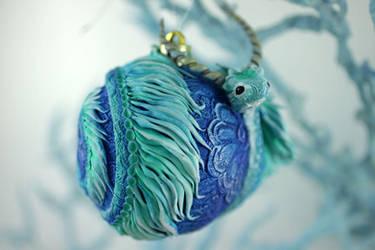 Sea dragon Christmas ball by hontor