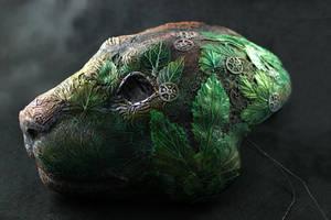 Cyberpunk Druid Mask I by hontor