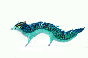 Haku dragon - totem style by hontor
