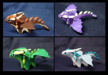 Plush dragons by hontor