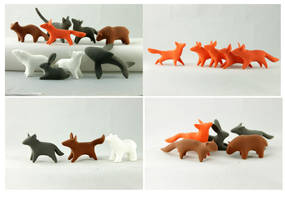 Rustic animals sets - blanks for yourself decor by hontor